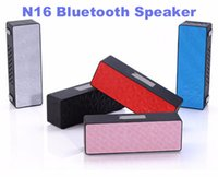Wholesale 2015 newest N16 Bluetooth speaker fashional wireless portable subwofer TF card FM for sport outdoors smart phones universal