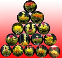 artistic box - 16 kinds of Blooming tea Artistic Blossom Flower Tea in gift box Individual Vacuum packing balls