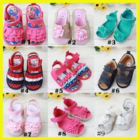 baby children footwear - 2015 Summer New Baby Girls First Walker Shoes Style Kids Princess Sandal Children Outside Anti Slip Shoes Toddler Footwear GZ GD0499