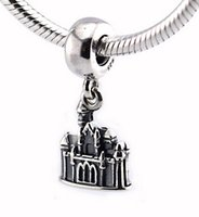beauty castle - Fits Pandora Bracelet Charms Sleeping Beauty Castle DIY Beads Solid Silver Not Plated