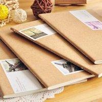 Wholesale Free ship pc Retro Paris tower kraft paper notebook car line diary book memos order lt no tracking
