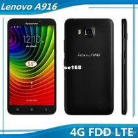 Precio de Lenovo k900-¡en venta! Lenovo A916 FDD LTE 4G Celular 5,5 pulgadas MTK6592 núcleo octa cámara 1G 8GB GPS WIFI se doblan