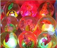 Wholesale Diameter mm octopus transparent and translucent crystal luminous elastic ball bouncing ball perennial hot T308