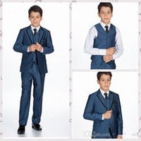 Wholesale Light Gray Boy s Formal Wear For Wedding Boy Suits Tuxedos Custom Made Boys Formal Occasion Suits
