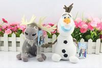 Wholesale 2pcs set CM Frozen sven Plush Toys New arrival Princess Elsa plush Anna Plush Doll olaf plush
