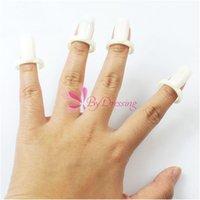 Wholesale 50Pcs Plastic Nail Forms Blank Ring Stylish Nail Polish Gel Color Nail Art Holder Display