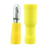 Wholesale New AWG Male Female Insulated Bullet Butt Connector Crimp Wire Terminals In Set
