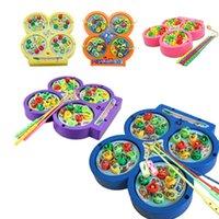 Wholesale Baby Kids Magnetic Fishing Toys Children Educational Rotating Fishing Game Kids Birthday Gift