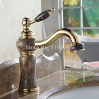 Wholesale Solid Brass and Marble body Deck Mounted Bathroom basin Faucet Single Handle Faucet AL K