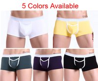 Cheap New Sexy Adult Men's Man Male Underwear Boxers Briefs Penis Hole Designr Crotch Pouch Low Rise For Mens In Underwear S M L 5 Colors