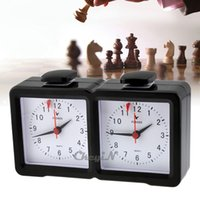 Wholesale LEAP Analogue Chess Timer Competition I GO Chess Clock Portable Tournament Game Clock Black QZ002H order lt no tracking