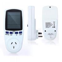 Wholesale 100PCS AU Plug Digital Power Meter Energy Monitor Watt Wattage Voltage Amps Meter Analyzer Medidor Electricity Monitor