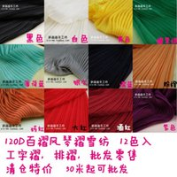 Wholesale Crushed Chiffon Dresses - Multicolor organ pleated crushed clearance 120 d chiffon apparel face fabric of pure color dress Stretching quantity
