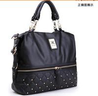 Wholesale Kim kardashian kollection kk bag designer brand bag kk handbags women rivet fashion portable bucket chain messenger bags