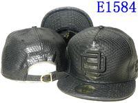 black mens hats - Newest Fashion Black leather D9 Reserve Snapback Baseball cap Gold logo D9 snap backs hip hop Strapback hat mens kenka flat gorras casquette