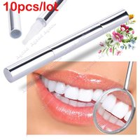 teeth whitening - 10pcs New Arrival Silvery white Bleach Stain Eraser Teeth Whitening Pen Tooth Gel Whitener Remove Instant SV008109