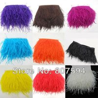 Wholesale 2Meters quot Trim Ostrich Fringe fluffy ostrich plumes feather feathers centerpieces wedding Clothing decoration