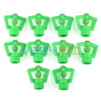 Wholesale 10pcs Garden Water Sprinkler Spray Nozzle PT Male Thread Plastic Rotary Green order lt no track