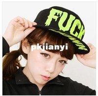 Cheap Korean hip-hop FUCK letters flat brimmed baseball cap influx of Korean men and ladies casual cap child