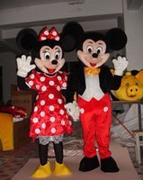 Al por mayor-En stock Pareja Mickey Minne ratón traje de la mascota de la historieta carácter mascotas de la escuela trajes masculinos para chicos nave rápida