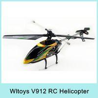 Cheap Wltoys V912 2.4g 4ch Rc Helicopter V911 Upgrade Version Single Propeller Big 52cm Radio Control Single Screw Remote Control Original HOT