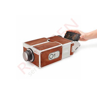 Wholesale Portable Universal Smartphone Cardboard Projector DIY Mobile Phone mini Cinema Theater For iPhone plus Samsung HTC