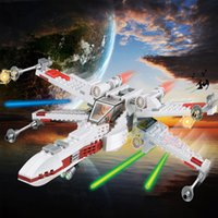 Wholesale Leyi Star Wars Red Five X Wing Starfighter Blocks Bricks Star Wars The Force Awakens Building Kits Compatible Legoe