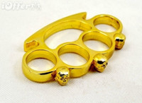 Wholesale 1pcs Self defense equipment NEW STEEL GHOST BRASS KNUCKLE DUSTERS