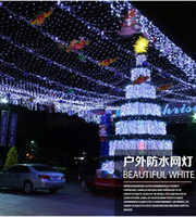 Wholesale Freeshipping m x m LED Christmas Wedding Party Background Holiday Running Water Waterfall Water Flow Curtain LED Light String Bulbs