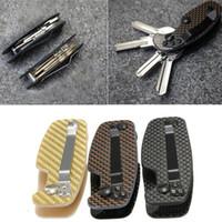 Wholesale High Quality Best Price EDC Carbon fiber FoldingKey Lightweight Pocket Organizer Clip Folder Key Clip Key Holder Bar Gear Tool