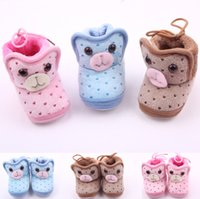 baby soft spot - 2015 winter plus thick velvet baby leisure cartoon coral velvet warm boots Heart shaped spot waist lace soft bottom snow boot pair Y