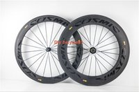 Wholesale Hot selling Road c carbon clincher wheel mm front mm rear wheels road bicycle carbon wheelset with novatec hub