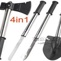 Wholesale Shovels in Military Type Steel Survival Shovel Axe Saw Knife Combined Camp Tool Kit Outdoor Survival Tool Durable