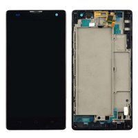 Wholesale Frame Black LCD Display Touch Screen Digitizer Assembly Replacement For Huawei Ascend G740 Honor C