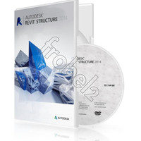 Wholesale 2014 Package Autodesk Revit Structure English version software for win or bit Plastic color box