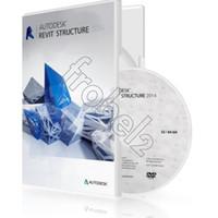 Wholesale 2014 Package Autodesk Revit Structure English version software for win or bit Plastic color box