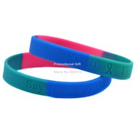 Jelly, Glow awareness silicone wristbands - Cancer Awareness Silicon Wristband Say It Fight It and Cure It Colours Adult Size