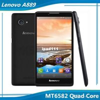 Precio de Lenovo k900-6.0 pulgadas IPS Lenovo A889 MT6582 Quad Core RAM 1G 8G ROM de Android 8.0 megapíxeles de la cámara del teléfono 3G WCDMA WIFI GPS Bluetooth de envío gratuito