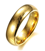 Wholesale Lord of The Rings Gold Tungsten Carbide Wedding Ring