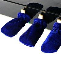 Wholesale 3pcs set Piano Sustain Pedal Cover Pleuche Blue Black Green Red Coffee Purple Piano Pedal Cover