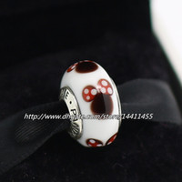 Glass screw - 5pcs Sterling Silver Threaded Screw Classic Minnie Murano Glass Bead Fits European Pandora Jewelry Charm Bracelet Necklaces Pendants