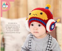 Cheap New Fashion Robot Knit Baby Korea Beanie New Primuim Collection Winter Hat Children Caps Knit Hats Caps For 3-24Months Kids Free Shipping