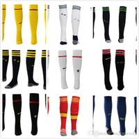 Wholesale 2016 La Liga Men Kids Ronaldo JAMES BALE Ramos HAZARD HONDA Dortmund Soccer Football Socks For Children Medias Futbol