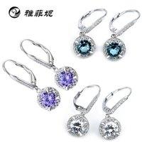 Wholesale Factory direct silver stud earrings earrings perfect zirconium Miss Shi Xiangqian hyperfine like to build earrings