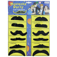 Wholesale 12 Costume Party Disguise Black Fake Mustache