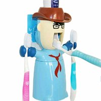 Wholesale Novelty creative cartoon animal pattern automatic lazy toothpaste dispenser squeeze device YH0024
