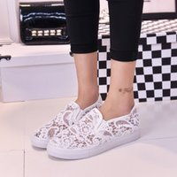 Wholesale Hot item summer women flat heel Casual shoes Lace Hollow Out Shoes ladies thin shoes