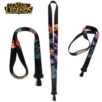 Wholesale League of Legends Cell Phone Lanyard Strap Charm Keychain Key ID Long Straps Cartoon Keychains Straps