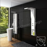 corian solid surface - New Modern CUPC Certificate Solid Surface Shower Panel Wall Mounted Shower Faucet Column Corian Panel RS0035