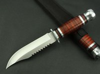 Wholesale New Wood handle Fixed Blade Survival Bowie Hunting Knife K3021B